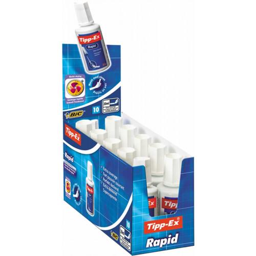 Tipp-Ex Rapid Correction Fluid 20ml-Pk10