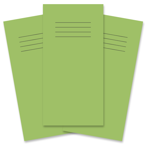 """8 x 4"""" Vocabulary Books 32 Pages 8mm Ruled Light Green Cover"""