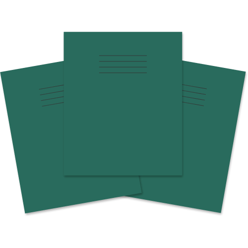 Exercise Book 205x165 48P S10 Dk Green