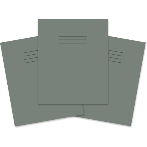 """8 x 6.5"""" 48 Pages 8mm Ruled & Margin Grey Cover"""