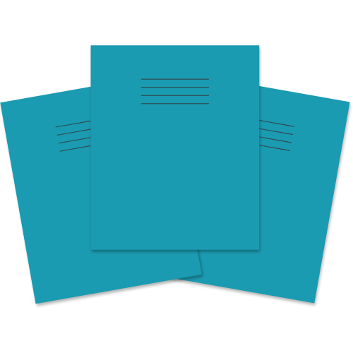 Exercise Book 205x165 80p S5 Lt Blue