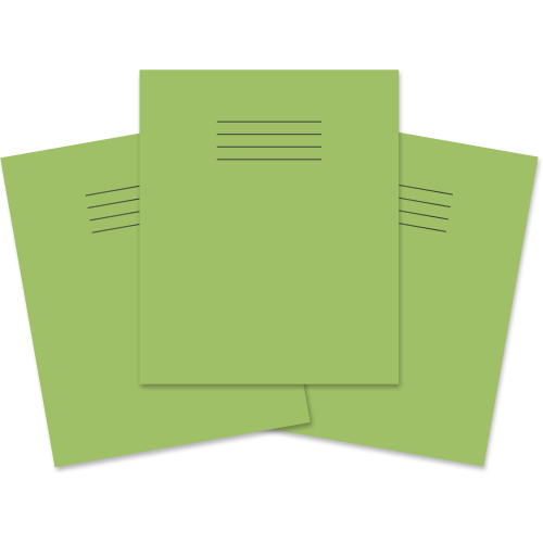Exercise Book 205x165 80p S10 Lt Green