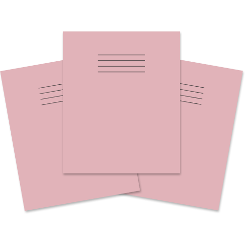 Exercise Book 205x165 80p Blank Pink