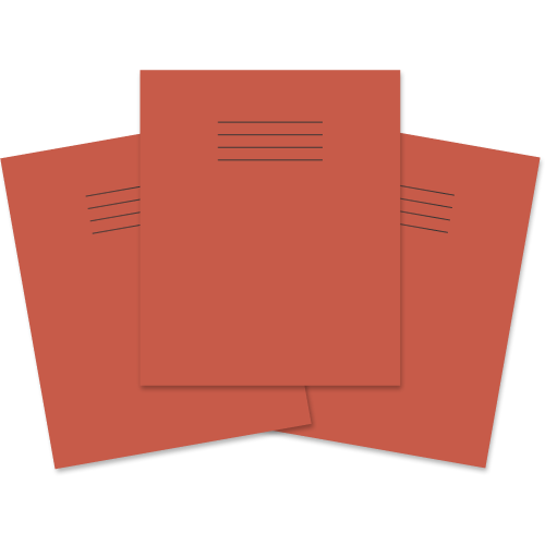 Exercise Book 205x165 48p F12 Red