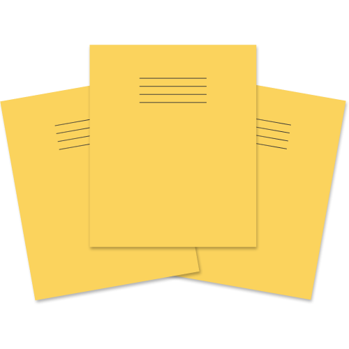 Exercise Book 205x165 48p Blank Yellow