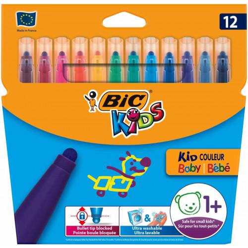 Bic Couleur Felt Pen Pk12-Assorted