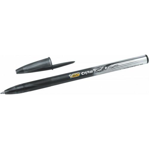 Bic Cristal + Gel Pen Pk4 - Assorted