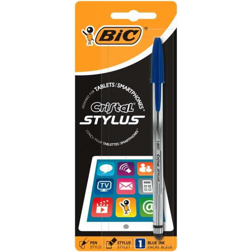 Bic Cristal Stylus Medium Blue-Each
