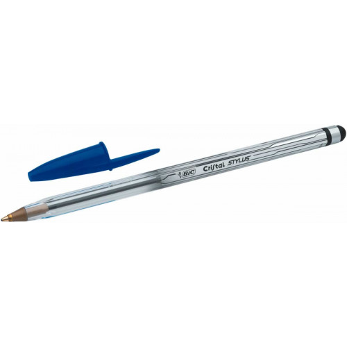 Bic Cristal Stylus Medium Blue-Each