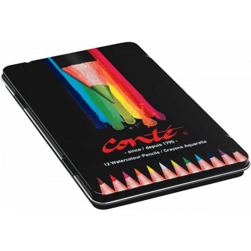 Conte Watercolour Pencil Box12-Assorted