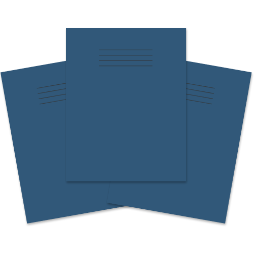Exercise Book 230x180 80p Blank Dk Blue