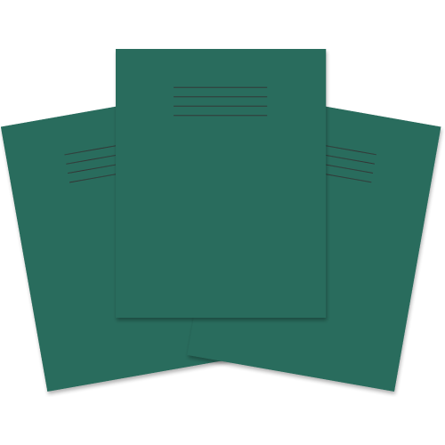 Exercise Book 230x180 60p F8M Dk Green