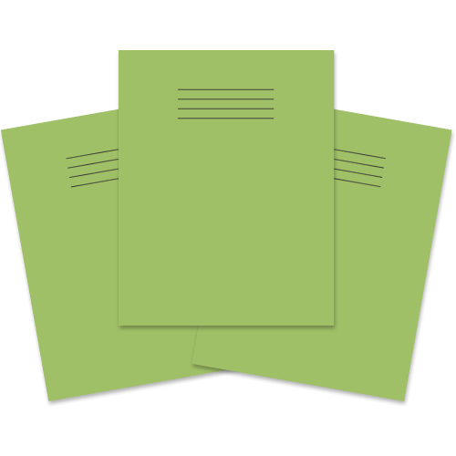 Exercise Book 230x180 60p F8M Lt Green