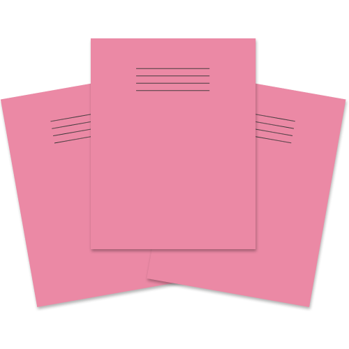Exercise Book 230x180 48p Blank Pink