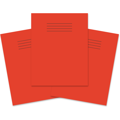 Exercise Book 230x180 60p F8M Red