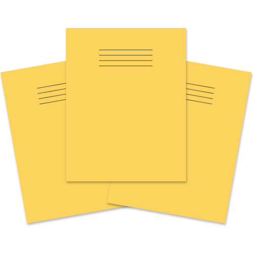 Exercise Book 230x180 80p F8M Yellow
