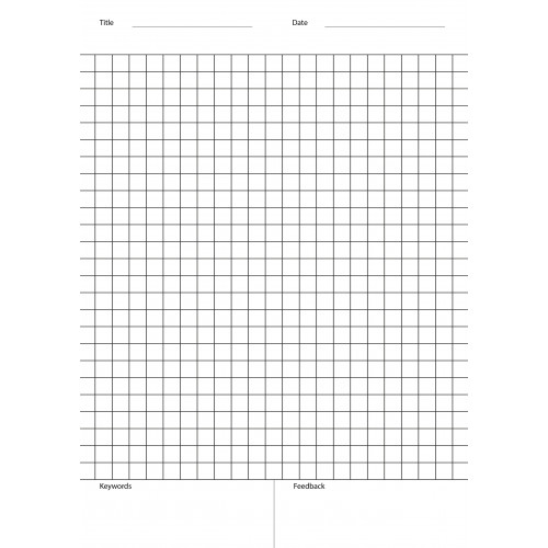 Exercise Book A4 80 Pages 5mm Squares Teacher Comments Pack of 10