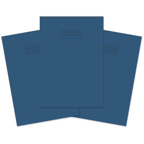 Exercise Book A4 48p F8M Dark Blue