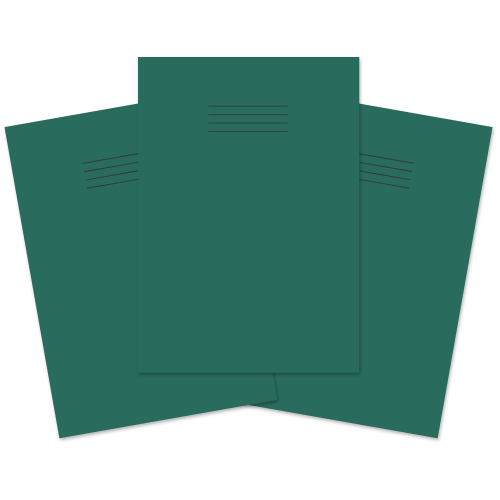 Exercise Book A4 80p F8M Dk Green Pk50