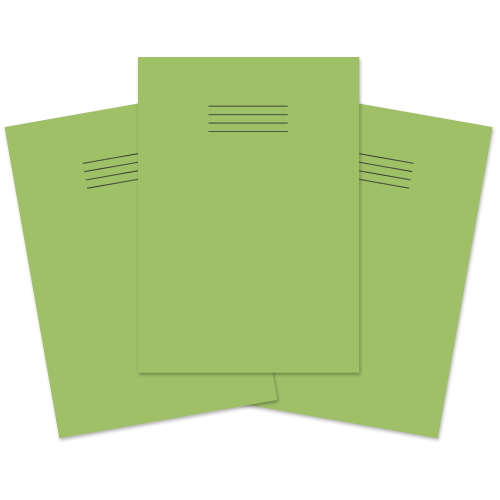 Exercise Book A4 64p Blank Lt Green Pk50