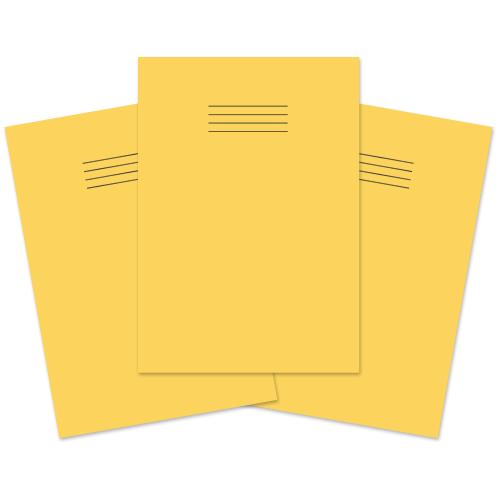 Exercise Book A4 60p S10 Yellow Pk50