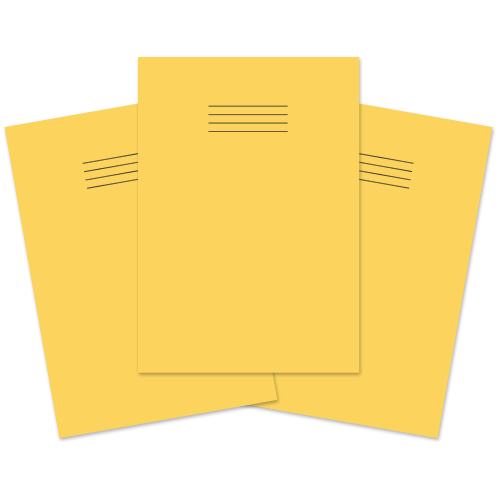 Exercise Book A4 96p F8M Yellow Pk50