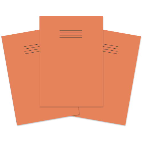 Exercise Book A4 64p S5 Orange Pk50