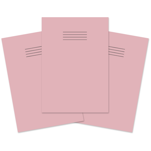Bulletin Book A4 32p Blank Pink