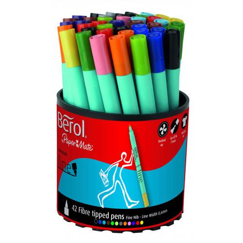 Berol Colourfine Tub 42- Assorted Cols