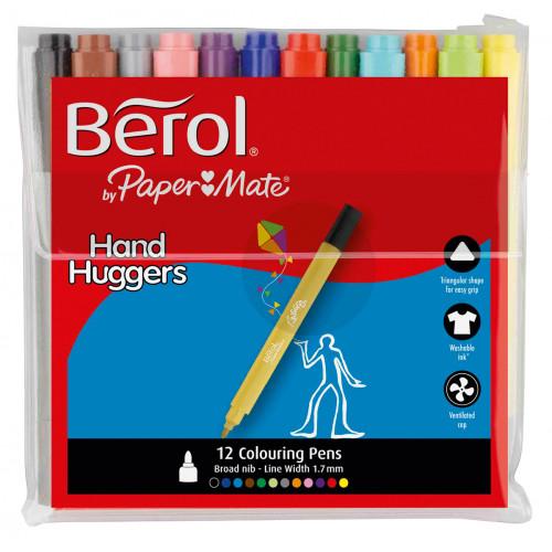 Berol Handhugger Colouring Pen Pk12-Astd
