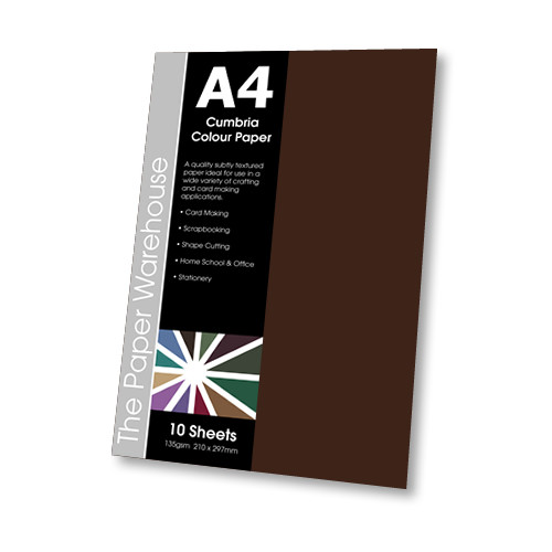 BAGDAD BROWN CUMBRIA PAPER A4 135gsmPK10
