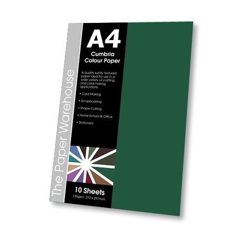 FOREST GREEN CUMBRIA PAPER A4 135gsmPK10