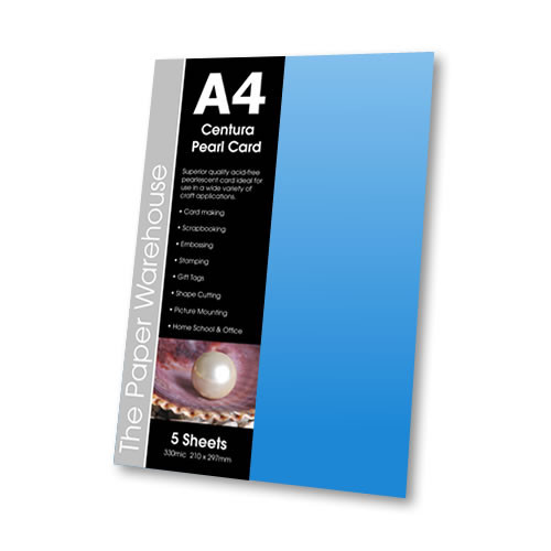 A5 Centura Pearl Card - Baby Blue - 10 Sheets - Pack of 10