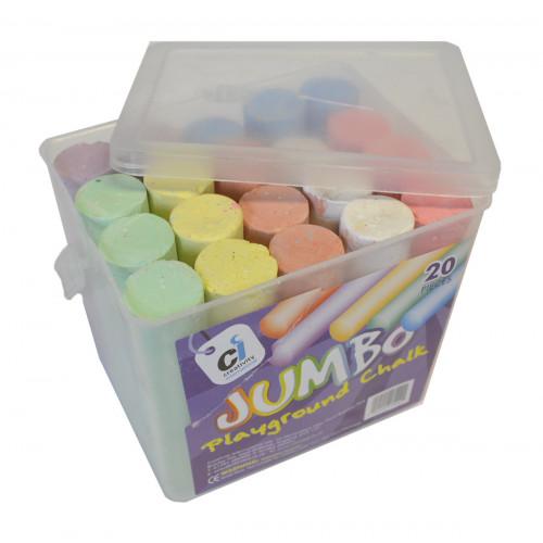 Coloured Chalk Bucket 100x25mm Pk20