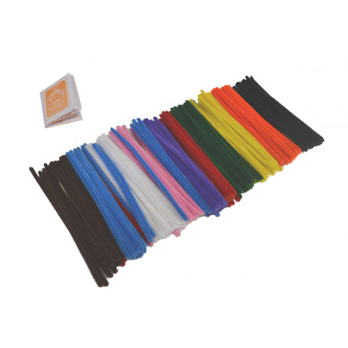 Pipe Cleaners 15cm Pk250 Assorted