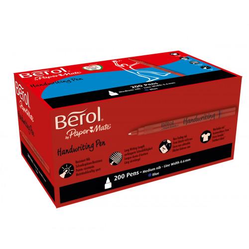 Berol H/Writing Stick Pen Pk200-Lt Blue