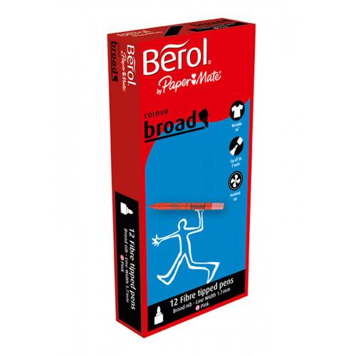(D)Berol Colourbroad Marker Pk12- Pink