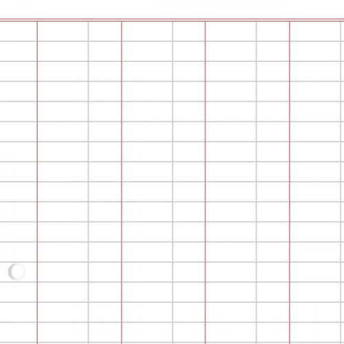 (500) Bk Keeping Paper A4 6 Decimal Col