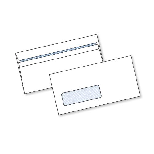 White S/Seal Window Env DL 80gsm Box1000