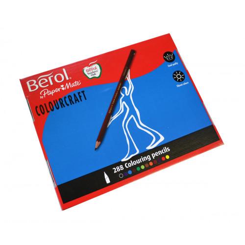 Berol Colourcraft Pencil Pk288-Assorted