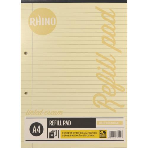 Rhino Refill Pad A4 50L F8M HB Cream Pk6