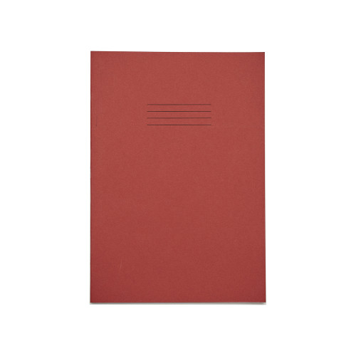 Exercise Book A4+ 48 Pages Blank Red Cover - Pack of 50