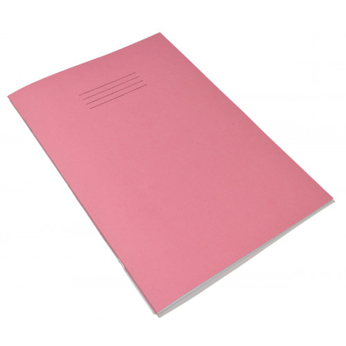 Exercise Book A4+ 48 Pages Blank Pink Cover - Pack of 50