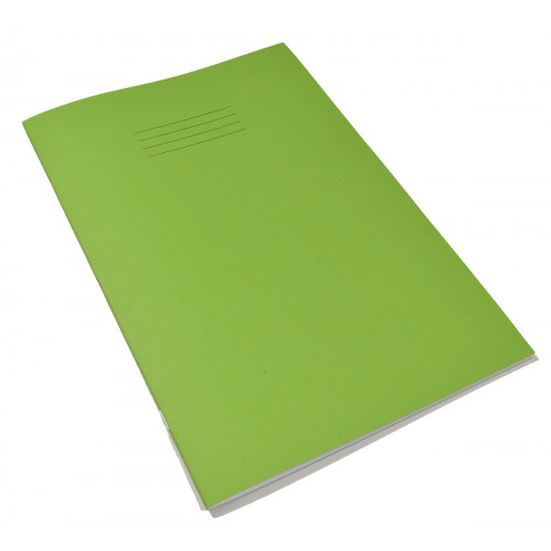 Exercise Book A4+ 48 Pages 8mm Ruled & Margin Light Green Cover - Pack of 50