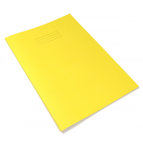 Exercise Book A4+ 48 Pages 8mm Ruled & Margin Yellow Cover - Pack of 50