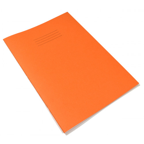 Exercise Book A4+ 48 Pages 8mm Ruled & Margin Orange Cover - Pack of 50