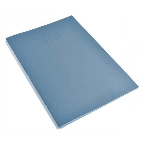Exercise Book A4+ 48 Pages 8mm Ruled & Margin Light Blue Cover - Pack of 50