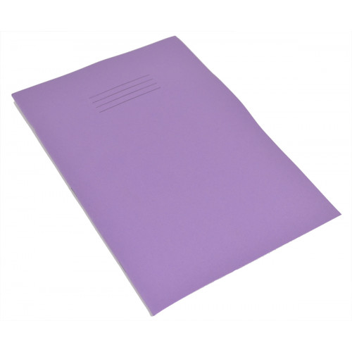 Exercise Book A4+ 80 Pages 10mm Squares Purple Cover - Pack of 50