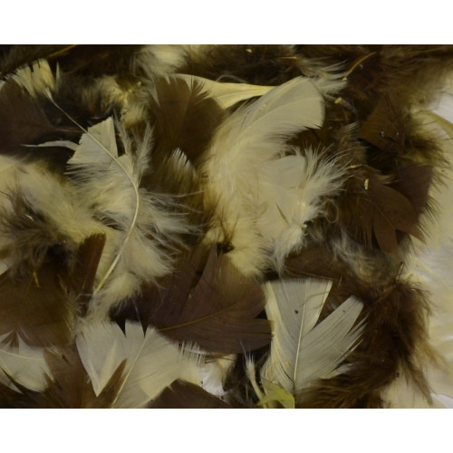 ASSORTED NATURAL FEATHERS (25gm BAG)
