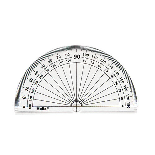 Helix-10cm/180 Deg Protractor Pk of 50
